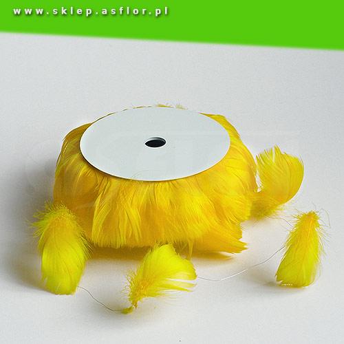 Piórka Na Druciku żółte