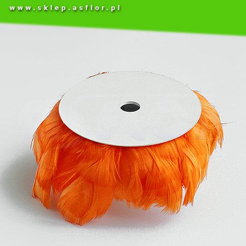 Piórka Na Druciku Pomarańczowe