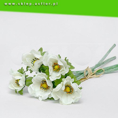 Sztuczne Anemony Białe Pęczek 6 Szt Sklepasflorpl