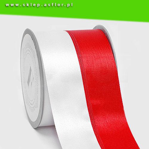 Modernistyczne Szarfa biało-czerwona 8 cm | Sklep.Asflor.pl GA13